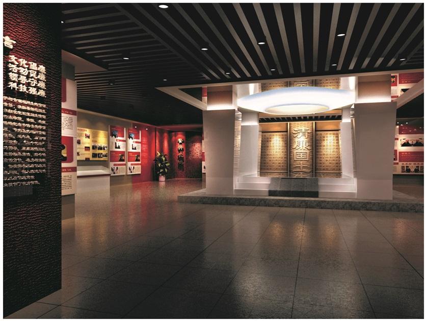 廉政教育展厅国家领导部分设计