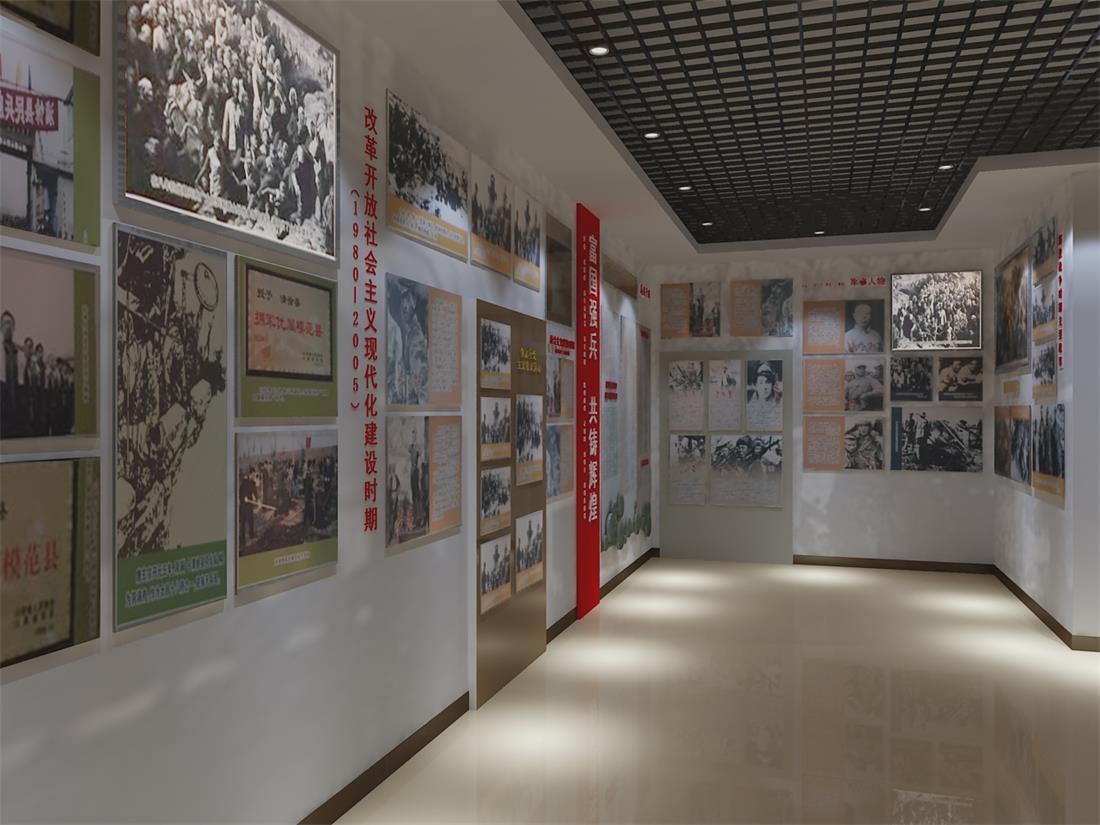 部队展厅红色历史设计